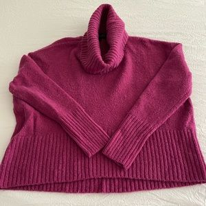 Magenta cow neck sweater